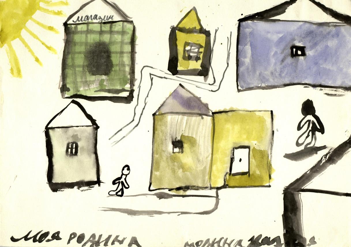 Рисунки детей «Моя Россия» - до коллективного пения