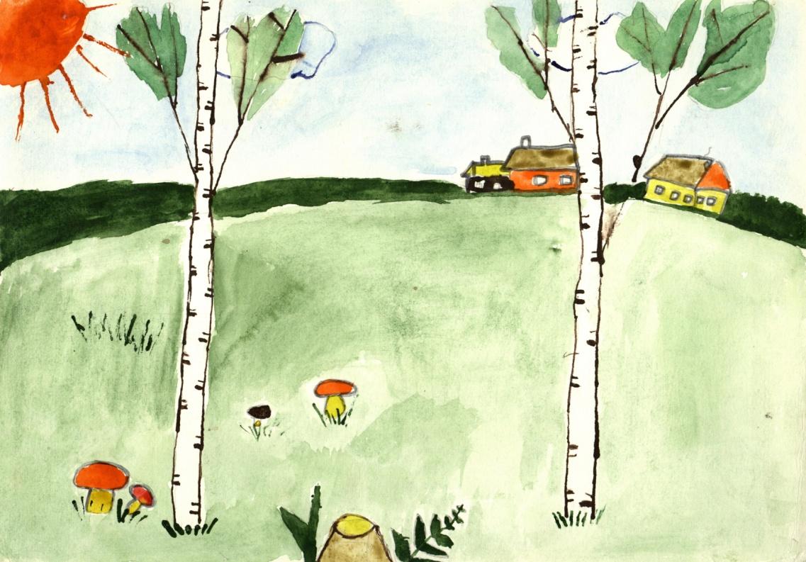 Рисунки детей . «Моя Россия» - спустя 3 месяца после коллективного пения
